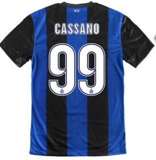 2012-13 Inter Milan Nike Home Shirt (Cassano 99) - Kids
