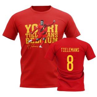 Youri Tielemans Belgium Player Tee (Red)