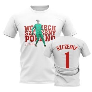 Wojciech Szczesny Poland Player Tee (White)