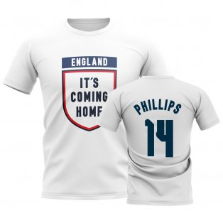 England Its Coming Home T-Shirt (Phillips 14) - White