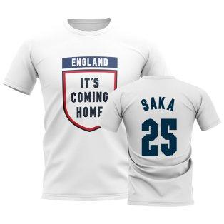England Its Coming Home T-Shirt (Saka 25) - White