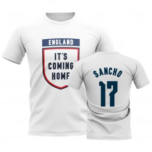England Its Coming Home T-Shirt (Sancho 17) - White