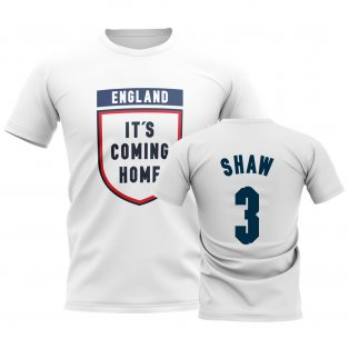 England Its Coming Home T-Shirt (Shaw 3) - White