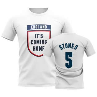 England Its Coming Home T-Shirt (Stones 5) - White