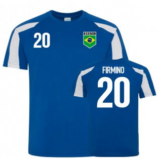 Brazil Sports Training Jersey (Firmino 20)