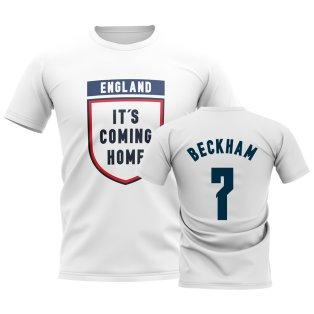 England Its Coming Home T-Shirt (Beckham 7) - White