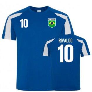 Brazil Sports Training Jersey (Rivaldo 10)