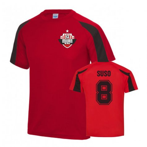 Suso AC Milan Sports Training Jersey (Red)