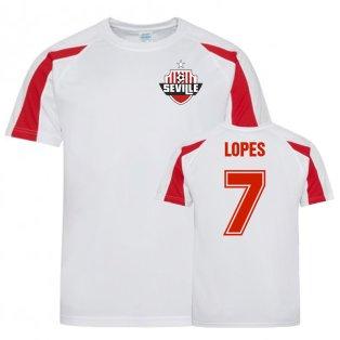 Rony Lopes Sevilla Sports Training Jersey (Red/White)