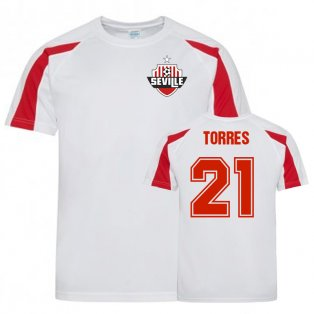 Oliver Torres Sevilla Sports Training Jersey (Red/White)