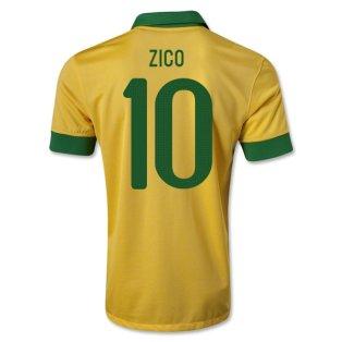 2013-14 Brazil Home Shirt (Zico 10)
