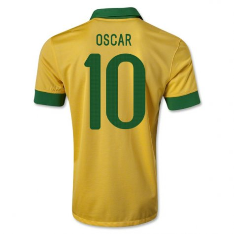 2013-14 Brazil Home Shirt (Oscar 10) - Kids