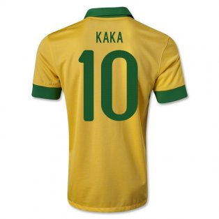 2013-14 Brazil Home Shirt (Kaka 10) - Kids