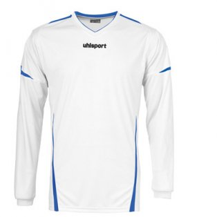 Uhlsport Team LS Shirt (white-blue)