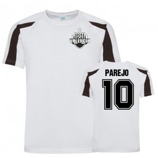 Dani Parejo Valencia Sports Training Jersey (White/Black)