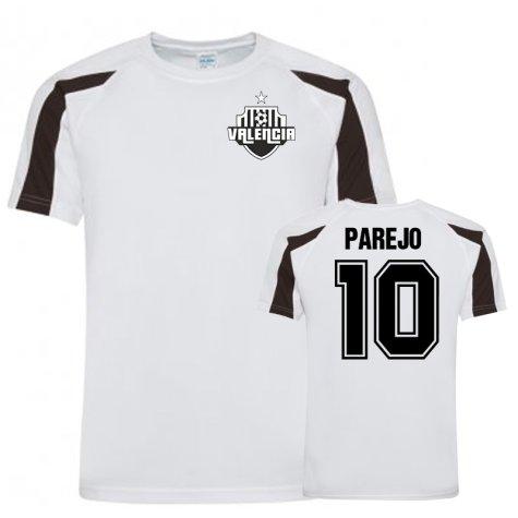 Dani Parejo Valencia Sports Training Jersey (White/Black)