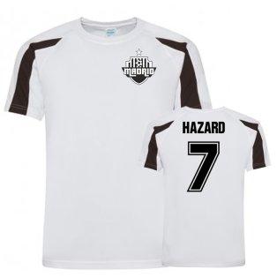 Eden Hazard Real Madrid Sports Training Jersey (White/Black)