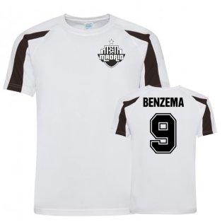 Karim Benzema Real Madrid Sports Training Jersey (White/Black)