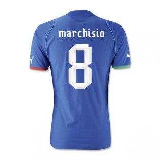 2013-14 Italy Home Shirt (Marchisio 8)