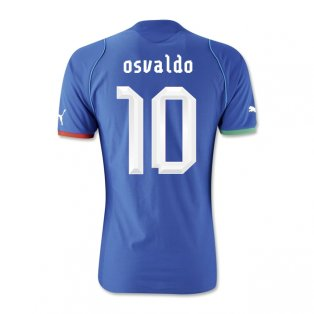 2013-14 Italy Home Shirt (Osvaldo 10)