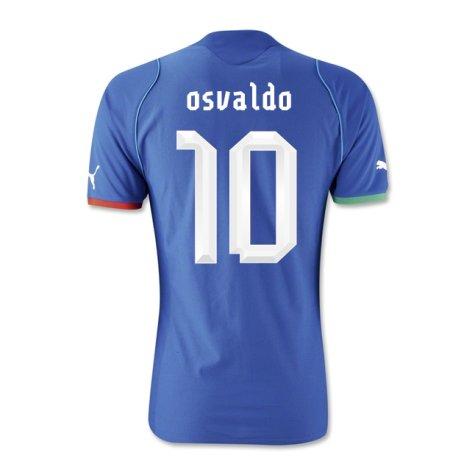 2013-14 Italy Home Shirt (Osvaldo 10)