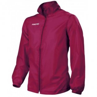 Macron Advance Full Zip Windbreaker (cardinal)
