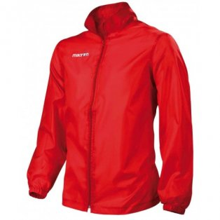 Macron Advance Full Zip Windbreaker (red)