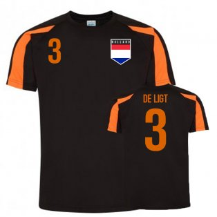 Matthjis De Ligt Holland Sports Training Jersey (Black)