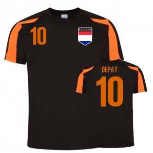 Memphis Depay Holland Sports Training Jersey (Black)