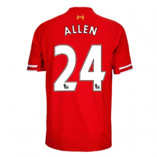 2013-14 Liverpool Home Shirt (Allen 24) - Kids