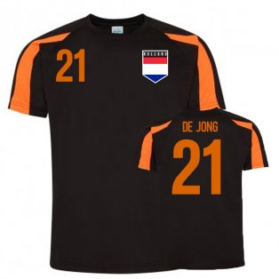 Frenkie De Jong Holland Sports Training Jersey (Black)