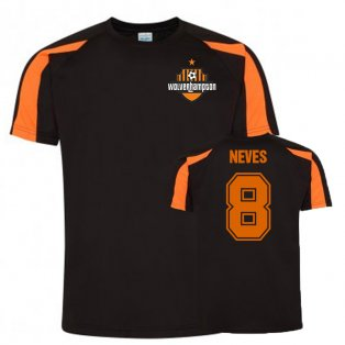Ruben Neves Wolves Sports Training Jersey (Black)