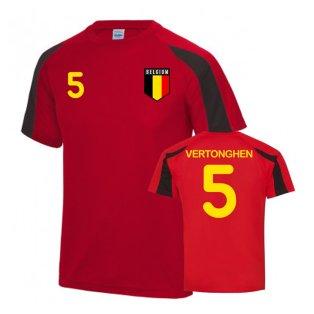 Belgium Sports Training Jersey (Vertonghen 5)