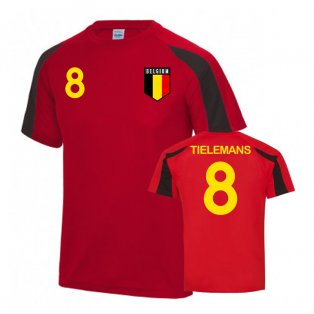 Belgium Sports Training Jersey (Tielemans 8)