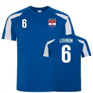 Croatia Sports Training Jersey (Lovren 6)