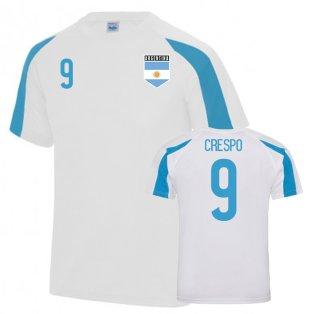 Argentina Sports Training Jersey (Crespo 9)