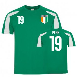 Ivory Coast Sports Training Jersey (Pepe 19)