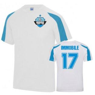 Ciro Immobile Lazio Sports Training Jersey (White)