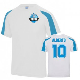 Luis Alberto Lazio Sports Training Jersey (White)