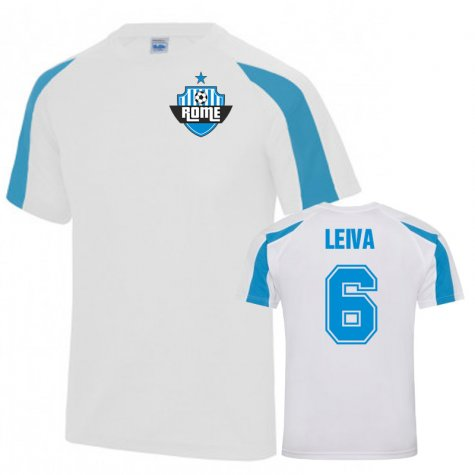 Lucas Leiva Lazio Sports Training Jersey (White)