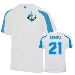 Sergej Milinkovic-Savic Lazio Sports Training Jersey (White)