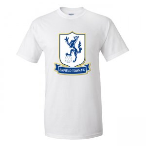 Enfield Town Official Badge T-Shirt (White) - Kids