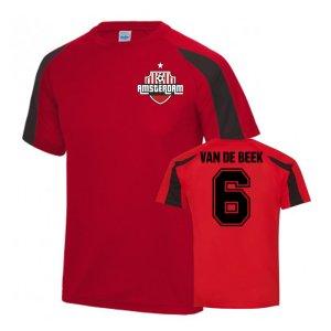 Donny van de Beek Ajax Sports Training jersey (Red)