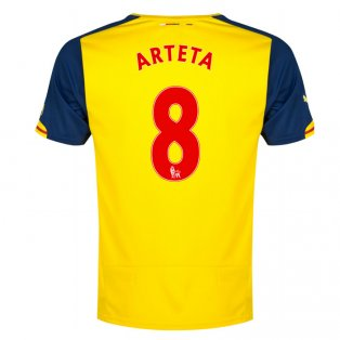 2014-15 Arsenal Away Shirt (Arteta 8)
