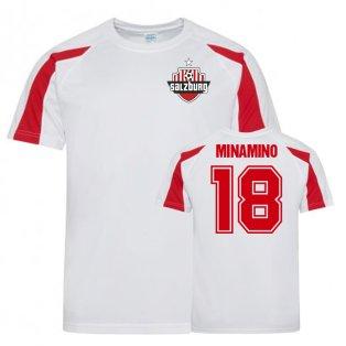 Takum Minamino FC Red Bull Salzburg Sports Training Jersey (White)