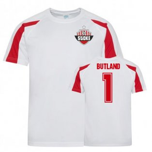 Jack Butland Stoke City Sports Training Jersey (White)