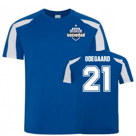 Martin Odegaard Real Sociedad Sports Training Jersey (Blue)