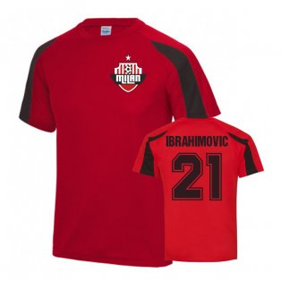 Zlatan Ibrahimovic AC Milan Sports Training Jersey (Red)