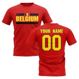 Personalised Belgium Fan Football T-Shirt (red)