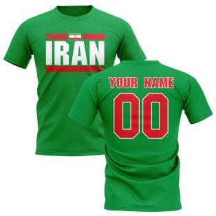 Personalised Iran Fan Football T-Shirt (green)